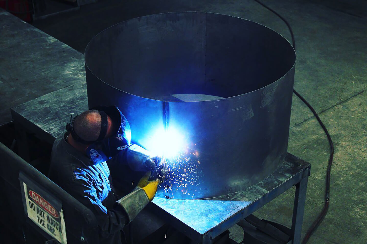 Welder providing custom sheet metal works