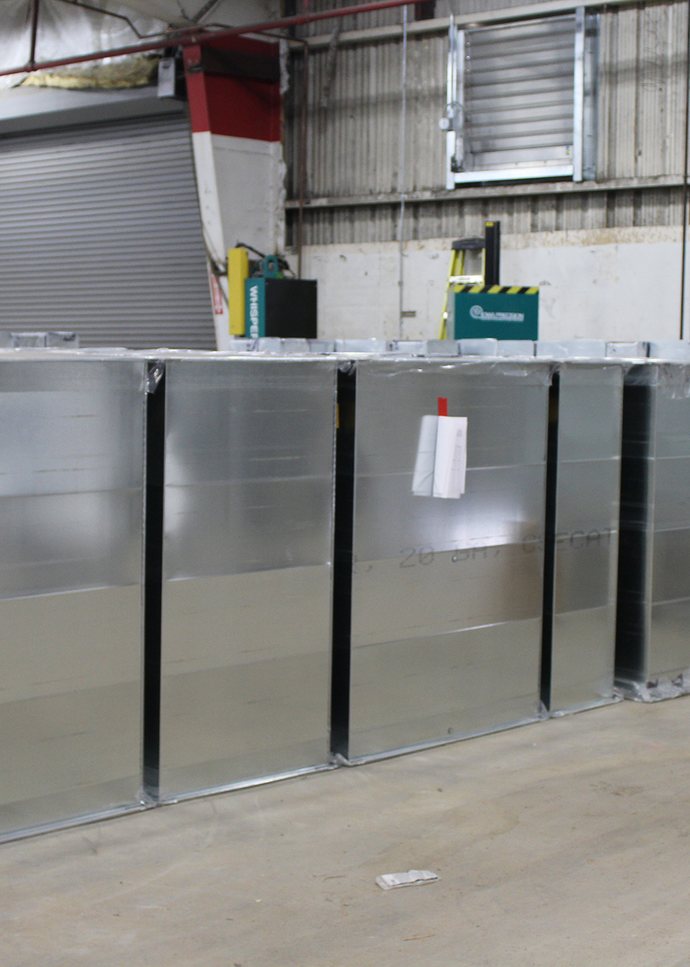Packaged galvanized commercial duct